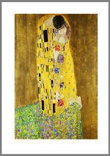 A0 A1 A2 A3 A4  poster print for glass frame Klimt Kiss Vintage Art Painting