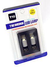 T10 LED 6000K WHITE Canbus Error-Free Euro Parker Bulbs BMW Mercedes X 5 PAIRS