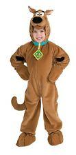 Scooby Doo Deluxe Child Costume Zipper Front Brown Velour Jumpsuit Fancy Dress
