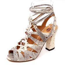 D0752 sandalo donna MALIPARMI VOLUTE IN WHIPS scarpe beige shoe woman