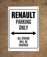 RENAULT PARKING ONLY Targa cartello metallo auto metal sign car garage