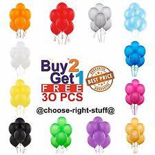 30 Large PLAIN BALOONS baloons helium BALLOONS Quality Party Birthday Wedding