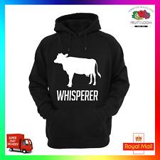 MUCCA Whisperer Contadino Fattoria Bestiame da latte AGRI Agricoltura Felpa Con Cappuccio Felpa Con Cappuccio yfc FUNNY COOL