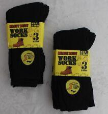 6 PAIRS Mens WORK SOCKS Black HEAVY DUTY Size 6-11