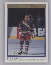 1990-91 O-Pee-Chee Premier #25 Tie Domi New York Rangers RC Rookie Hockey Card