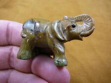 (Y-ELE-ST-616) ELEPHANT gemstone TAN JASPER carving figurine SAFARI