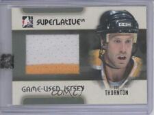 2007-08 In the Game Superlative Game-Used Jersey Silver GUJ-53 Joe Thornton Card