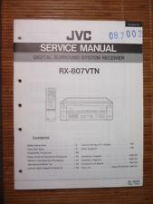Service Manual JVC RX-807 VTN Digital Receiver,ORIGINAL