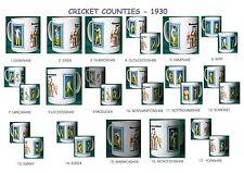 CRICKET 1930.ENGLISH COUNTIES..MUGS.17 DESIGNS.NEW.BNIB