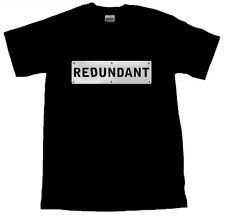 Redundant Silver Design Cool Men's T-SHIRT ALL SIZES # Black