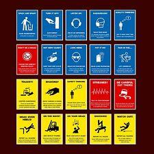 Safety Workplace Posters / Smoking / Forklift / Hazard - Plastic Sign, Sticker