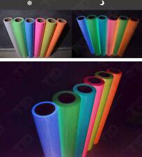 5colors Glow in the Dark Luminous Heat Transfer Vinyl Iron On T-Shirt 2m