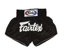 Fairtex Authentic Muai Thai Boxing Mma Fighter Shorts Satin Black Bs201 All Size