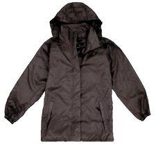 MENS BREATHABLE WATERPROOF WINDPROOF JACKET Gents black hiking coat camping mac