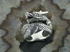 Anillo de dragón anillo de plata fina salario plata 925 Dragon dragón seres mitologicos mitos