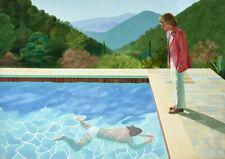 DAVID HOCKNEY THE SWIMMING POOL REALISM ART Giclée Print Fine Canvas