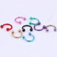 Surgical Steel Horseshoe Nose Lip Teeth Ear Traus Piercing Ring Hoop