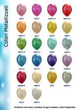 PALLONCINI 5 pollici metallizzati vari colori piccoli