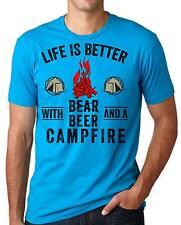 Camping Fishing Hunting Tee Shirt Beer Bear Tee Shirt Campfire