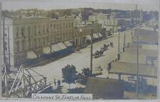 1909 Rppc Postcard~Great Colborne St Scene~Fenelon Falls Ont. Canada Postmark