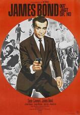 James Bond 007 Dr. No 1962 Movie Poster Canvas Poster Art Print Sean Connery