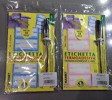 Etichette termoadesive 310 Marbet marca biancheria con penna per scrivere
