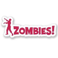 2 X Advertencia Zombie Walking Dead Pegatina de vinilo Laptop Equipaje de Viaje #4102