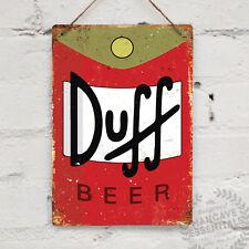 DUFF BEER Logo Replica Vintage Metal Wall sign Retro Pub Bar Mancave Homer Moes