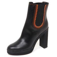 E2926 tronchetto donna nero TOD'S scarpe boot shoe woman