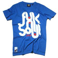 RVLT Revolution Holla Funk Soul Herren T-Shirt blau Sommer Skate Shirt HipHop