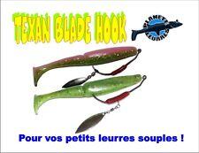 2 montages Texan Blade Hook pêche leurre souple brochet sandre blackbass bar