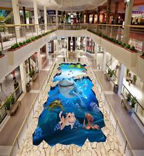 3D Bel Mer 14 Fond d'écran étage Peint en Autocollant Murale Plafond Chambre Art