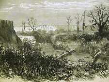 BEAVER DAM PAWNEE FORK KANSAS 1867 Antique Print Matted
