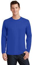 Port & Company Men's New Long Sleeve 100% Cotton Casual Basic Tee. PC450LS