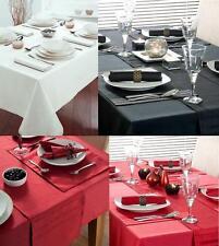 WHITE BLACK RED PURE COTTON DRILL TABLE CLOTH COVER / NAPKINS - PREMIUM QUALITY