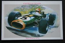 Repco Brabham BT19  Formula 1  Motor Racing Car   Illustrated Picture Card