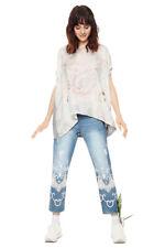 Desigual Grey & Pastel Clarette Oversized T shirt Top XS-XXL UK 8-18  RRP ?54