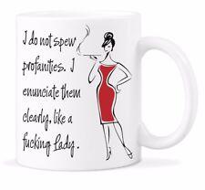 I Do Not Spew Profanities Mug Like a F*cking Lady Coffee Mugs Funny Sassy Cup
