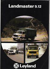 LEYLAND LANDMASTER 9.12 OVERSEAS TRUCK SALES SHEET/'BROCHURE' 1981 1982 FRENCH