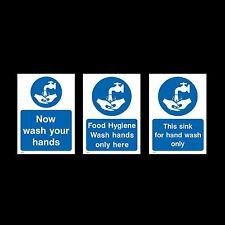 Ora lavare le mani / LAVELLO lavaggio a mano-Firmare, Adesivo-Tutte le Taglie e materiale