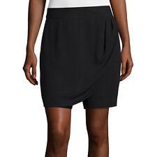 Liz Claiborne Black Front-Wrap Skort Size 6P, 6, 18 Msrp $40.00 New