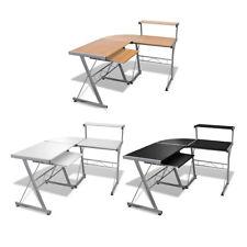 L-Shape Corner Computer Desk PC Laptop Table Workstation Home Black/Brown/White✓