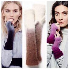 NEW Free People Open Sky Ombré Fuzzy Angora Fingerless Gloves