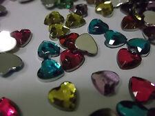 125 flatback 8mm Forma De Corazón De Plástico Diamantes Adornos-Buy 3 Get 1 Free