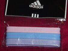 Adidas SUPERSTAR Baller id Bands Wristbands Bracelets Pink Blue Purple New!