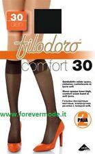 6 paire Mi-bas femme Filodoro 30DEN avec manchette ultra doux art Confort 30