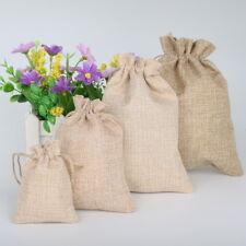 40 Bolsas de lino para regalos detalles Boda 4 medidas 5 color Bisutería Joyería