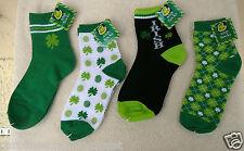 SOCKS~Adult Size~St. Patrick's Day~Shamrock Design~Ladies 9-11~NWT~FREE SHIP