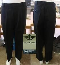 Dockers D4 Never-Iron™ Khaki Premium Flat Front Pants-BLACK-New With Tag