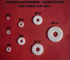 UNTERLEGSCHEIBEN BEILAGSCHEIBEN M3 - M16  KUNSTSTOFF POLYAMID DIN 9021 GROSS